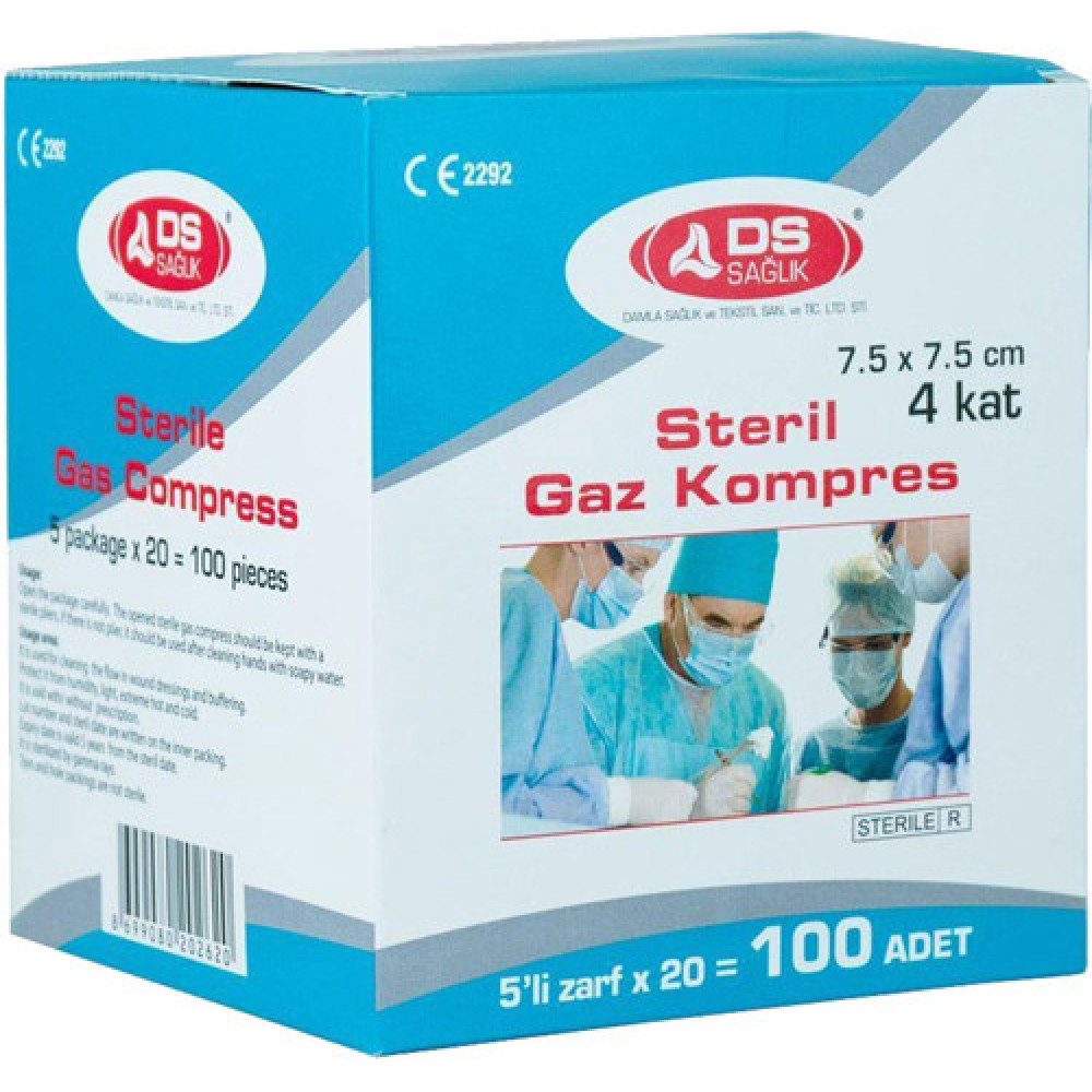 D'S Sağlık Steril Gazlı Kompres Bez